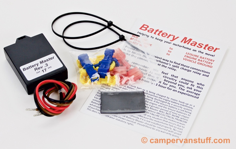 The Battery Master package contents