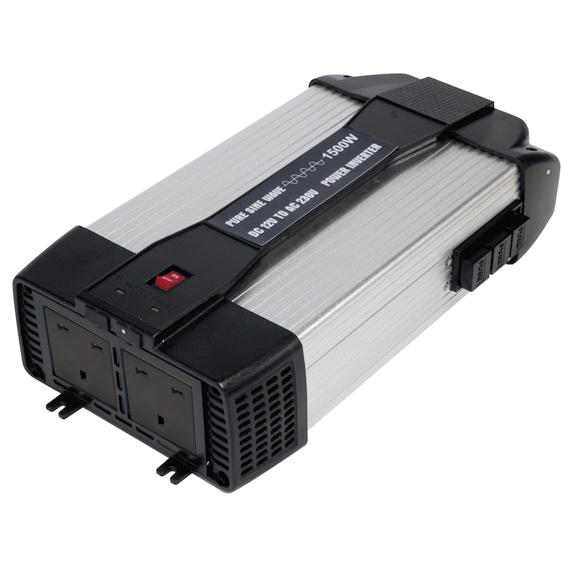 GYS PSW 6047U 1500w pure sine wave inverter at www.campervanstuff.com