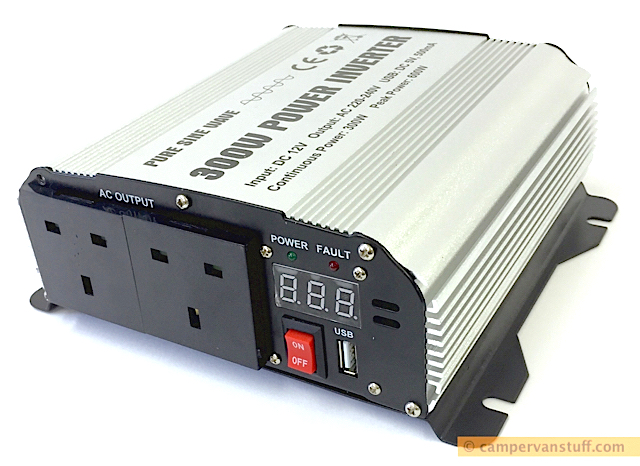 GYS PSW 8300 300w pure sine wave inverter at www.campervanstuff.com