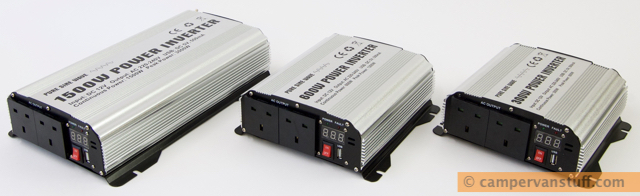 Three GYS pure sine inverters