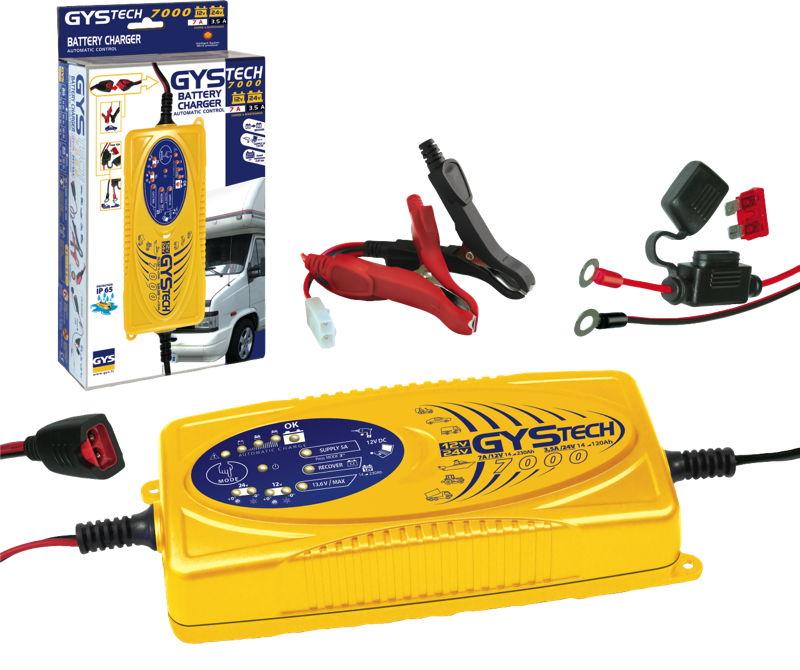 GYStech 7000 intelligent 12v / 24v battery charger for motorhomes