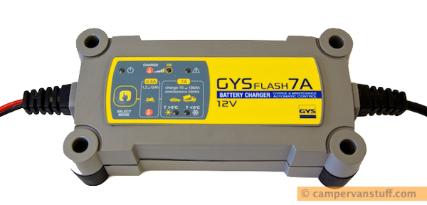 GYSflash 7A ideal for charging motorhome batteries