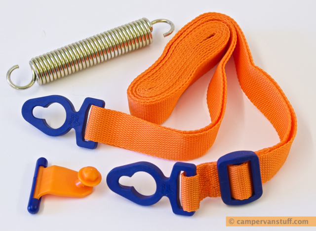 The Peggypeg tie awning tiestrap pack contents