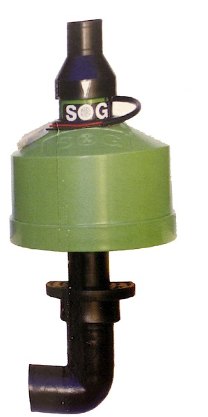 SOG II motor and fan mounted on filter