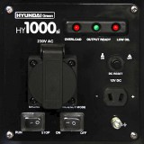 Front panel on the Hyundai HY1000Si generator