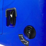 The fuel control and the pull-starter handle on the Hyundai HY1000Si generator.