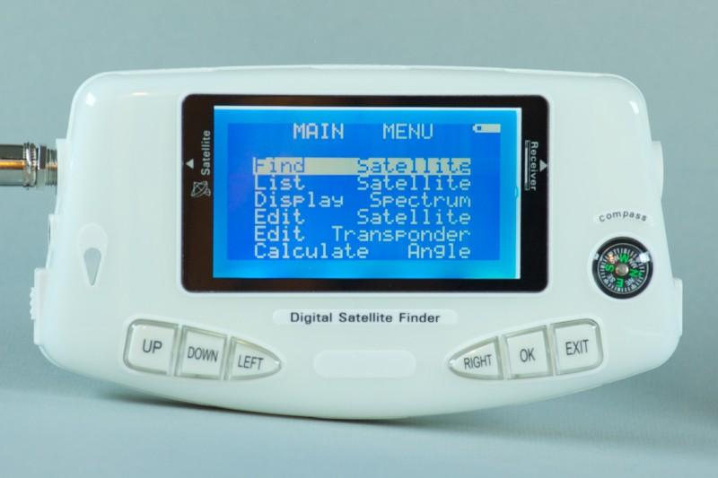 Satellite transponder finder