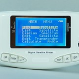 Switch on the SF600 satellite finder and it will first of all display the main menu.